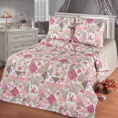 Лоскутная мозайка Розовый (Бязь ПРЕМИУМ)