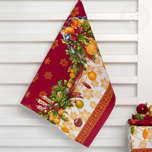 Рождество (Полотенца из рогожки)