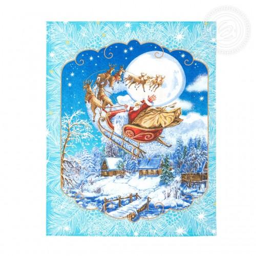 Санта (Полотенца из рогожки)