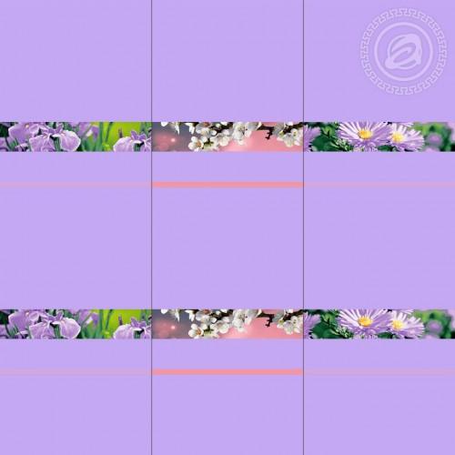 Цветочная палитра Фиолетовый (Вафельное полотно)