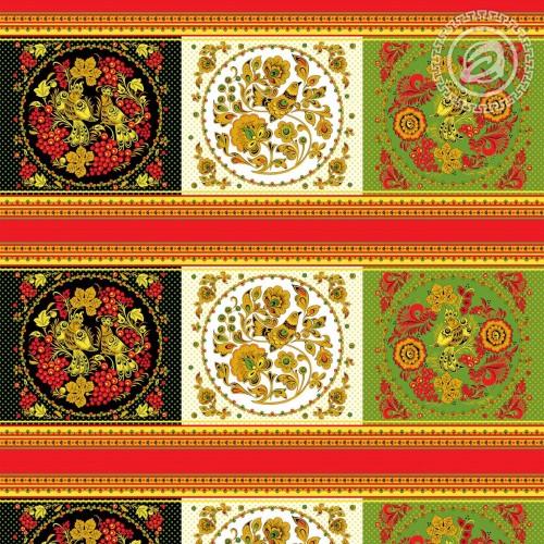 Золотая хохлома (Вафельное полотно)
