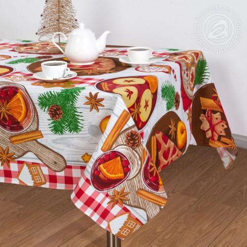 Пряничный домик (Скатерть из рогожки)